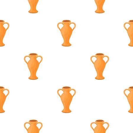 Amphora icon in cartoon style isolated on white background. Theater pattern stock vector illustration Illustration