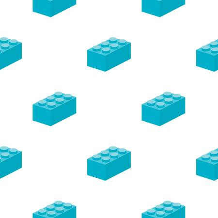 Building block cartoon icon. Illustration for web and mobile design.