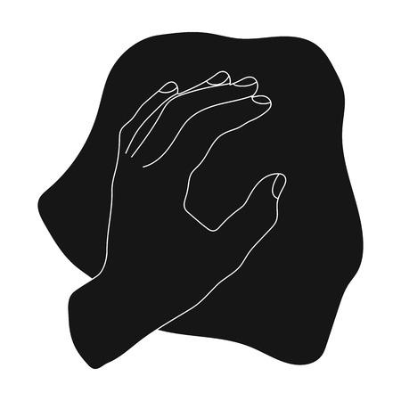 Nettoyage par chiffon icône en style noir isolé sur fond blanc. Symbole de nettoyage illustration vectorielle. Vecteurs