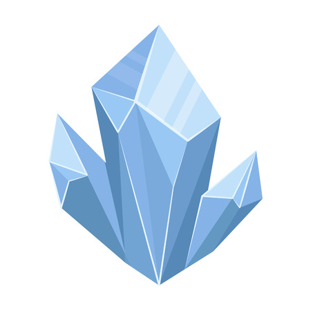 natura: Blue natural mineral icon in cartoon style isolated on white background. Precious minerals and jeweler symbol stock vector illustration.
