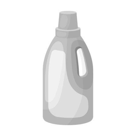 laundry detergent: Laundry detergent icon in monochrome style isolated on white background.
