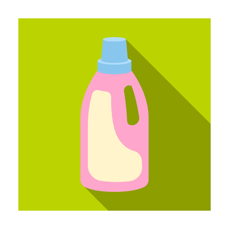 bleach: Laundry detergent icon in flat style isolated on white background. Cleaning symbol stock vector illustration. Illustration
