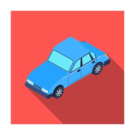 Car icon in flat style isolated on white background. Transportation symbol stock vector illustration. Illustration