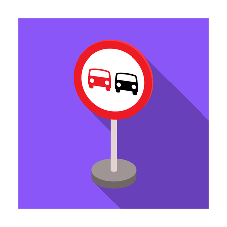 Prohibitory road sign icon in flat style isolated on white background. Road signs symbol stock vector illustration. Illustration
