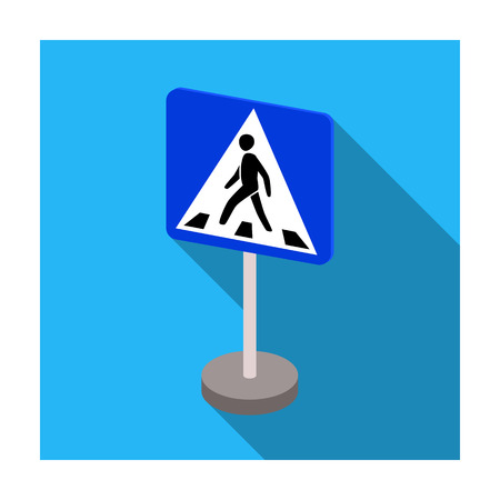 Information road signs icon in flat style isolated on white background. Road signs symbol stock vector illustration. Illustration