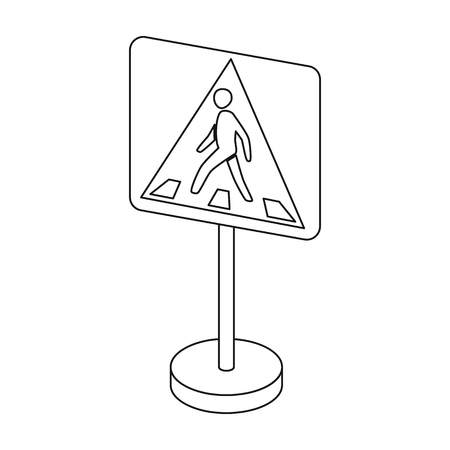 Information road signs icon in outline style isolated on white background. Road signs symbol stock vector illustration.