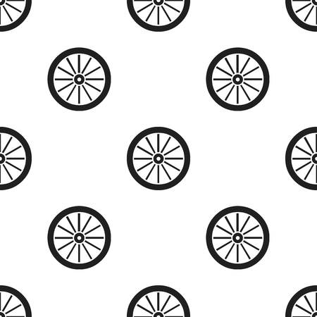 cartwheel: Cart-wheel icon black. Singe western icon from the wild west black.