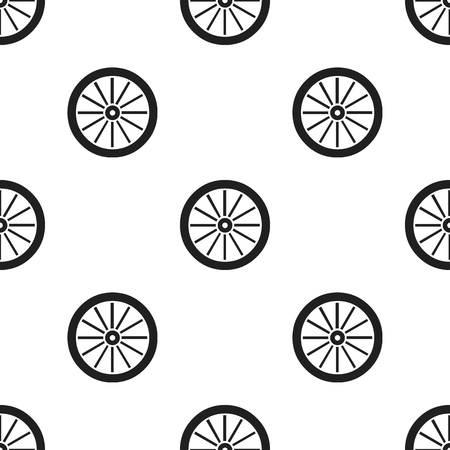 Cart-wheel icon zwart. Singe westerse icoon uit het wilde westen zwart. Vector Illustratie