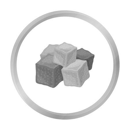 delight: Turkish delight icon in monochrome style isolated on white background. Arab Emirates symbol stock vector illustration.