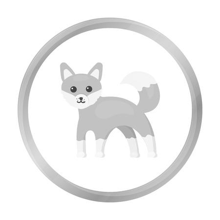 Fox icon monochrome. Singe animal icon from the big animals monochrome. Illustration