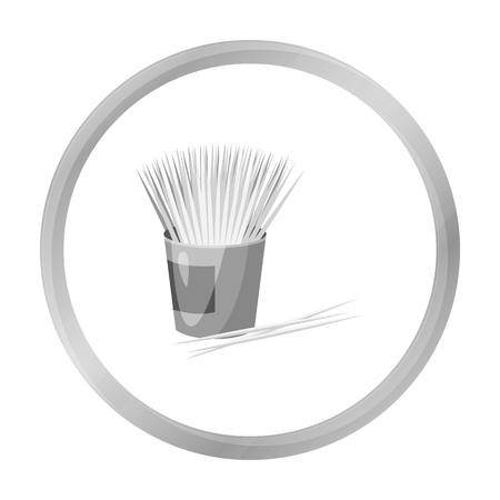 small group of objects: Toothpicks icon in monochrome style isolated on white background. Dental care symbol stock vector illustration.