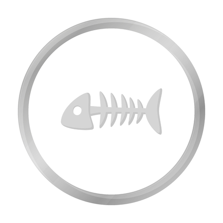 grey cat: Fish bone icon of vector illustration for web and mobile Illustration