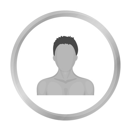 Boxer icon in monochrome style isolated on white background. Boxing symbol stock vector illustration. Illustration