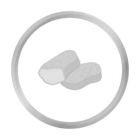 Nuggets vector icon in monochrome style for web Illustration