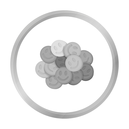 Ecstasy icon in monochrome style isolated on white background. Drugs symbol vector illustration.