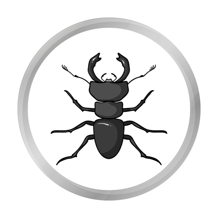 Forest red ant icon in monochrome style isolated on white background. Insects symbol stock vector illustration.