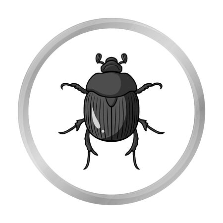 Dor-beetle icon in monochrome style isolated on white background. Insects symbol stock vector illustration.