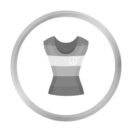 Dress icon monochrome. Single gay icon from the big minority, homosexual monochrome.