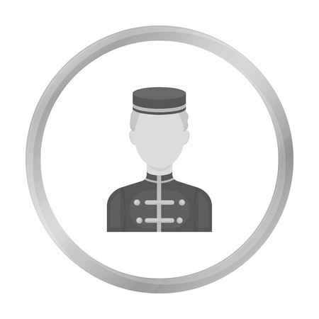 pictorial art: Bellboy icon in monochrome style isolated on white background. Hotel symbol stock vector illustration.