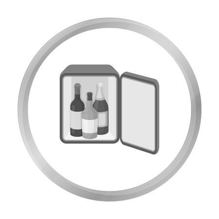 minibar: Mini-bar icon in monochrome style isolated on white background. Hotel symbol stock vector illustration.