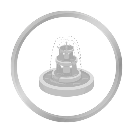 Fountain icon in monochrome style isolated on white background. Park symbol stock vector illustration.