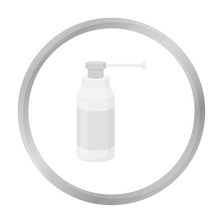 Throat Spray Symbol Schwarz-Weiß. Einzel Medizin-Symbol aus der großen medizinischen, Healthcare monochrom.