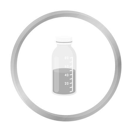 Mixture icon monochrome. Single medicine icon from the big medical, healthcare monochrome.