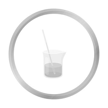 litre: Mixture icon monochrome. Single medicine icon from the big medical, healthcare monochrome.