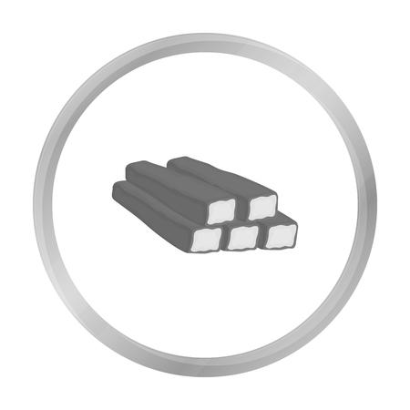 Palitos de cangrejo icono en blanco y negro de estilo aislado en el fondo blanco. ilustración vectorial símbolo carnes Foto de archivo - 71316342