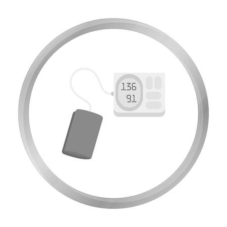 tonometer: Tonometer icon monochrome. Single medicine icon from the big medical, healthcare monochrome.