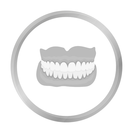 med: Jaw icon monochrome. Single medicine icon from the big medical, healthcare monochrome.