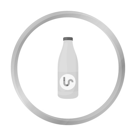 drain: Drain cleaner icon in monochrome style isolated on white background. Plumbing symbol stock vector illustration.