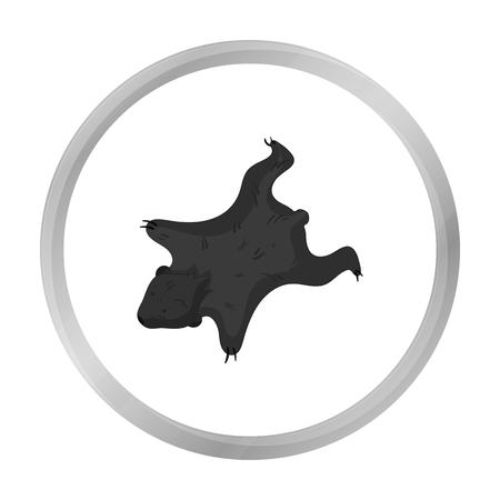bearskin: Bearskin icon in monochrome style isolated on white background. Stone age symbol stock vector illustration.