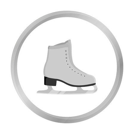 figureskating: Skates icon monochrome. Single sport icon from the big fitness, healthy, workout monochrome.