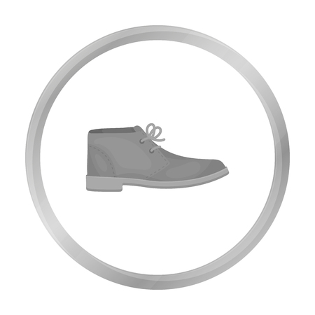 brogues: Oxfords icon in monochrome style isolated on white background. Shoes symbol stock vector illustration.