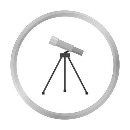Telescope icon monochrome. Single education icon from the big school, university monochrome.