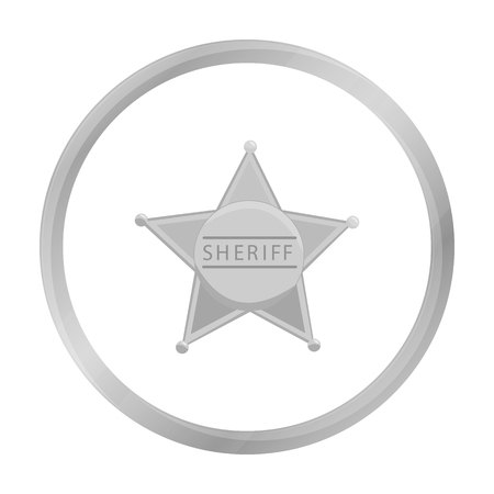 deputy sheriff: Sheriff icon monochrome. Singe western icon from the wild west monochrome.
