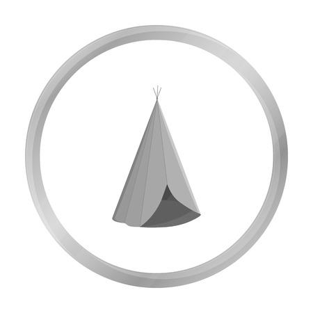 american history: Wigwam icon monochrome. Singe western icon from the wild west monochrome.