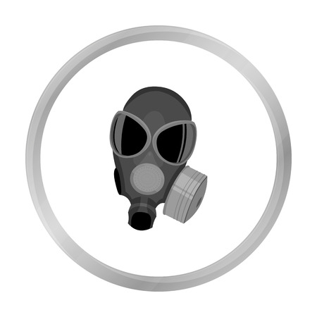gas masks: Gas masks icon monochrome. Single weapon icon from the big ammunition, arms set. Illustration