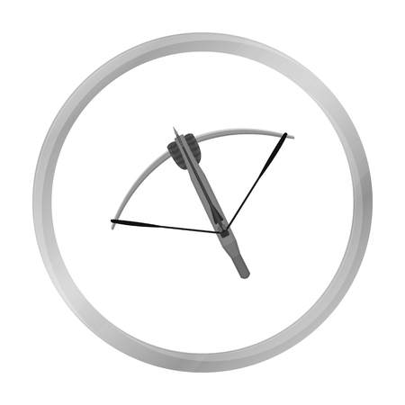 siege: Crossbow icon monochrome. Single weapon icon from the big ammunition, arms set. Illustration