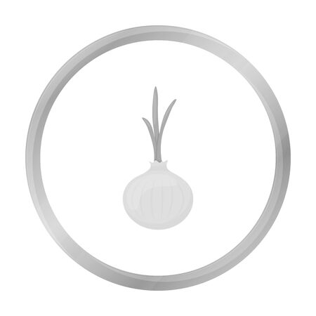 cellulose: Onion icon monochrome. Singe vegetables icon from the eco food monochrome.