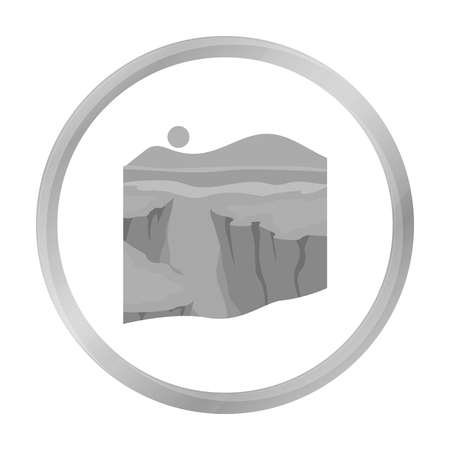 Grand Canyon icon in monochrome style isolated on white background. USA country symbol stock vector illustration.