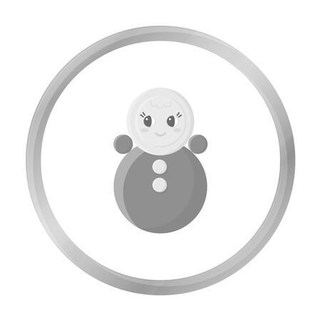 wobbly: Roly Poly monochrome icon. Illustration for web and mobile design.
