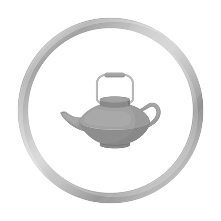 Tetsubin icon in monochrome style isolated on white background. Sushi symbol stock vector illustration. Illustration