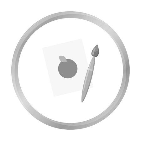 depiction: Picture monochrome icon. Illustration for web and mobile design.