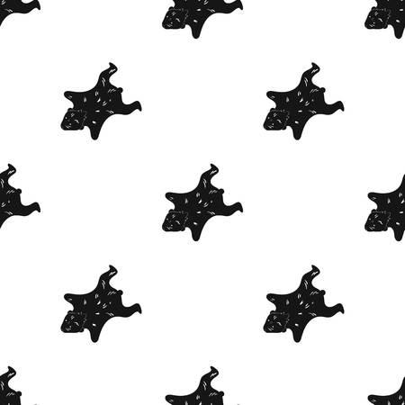 bearskin: Bearskin icon in black style isolated on white background. Stone age pattern vector illustration. Illustration