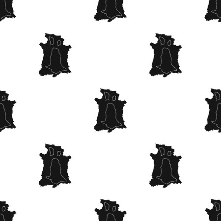 hide: Animal hide icon in black style isolated on white background. Stone age pattern vector illustration.