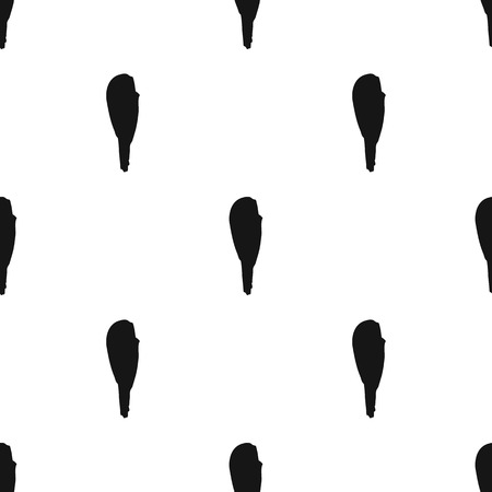 antic: Truncheon of stone age icon in black style isolated on white background. Stone age pattern vector illustration. Illustration