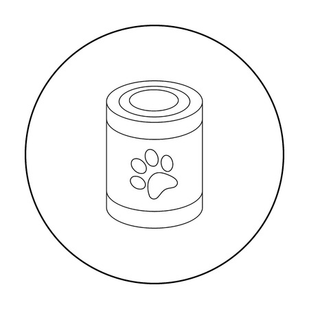 grey cat: Dog food vector icon in outline style for web
