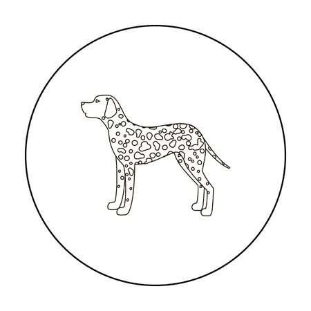 Dalmatian vector icon in outline style for web